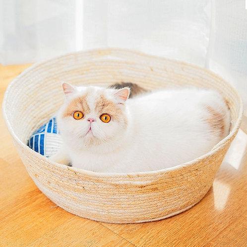 粟米皮藤籃 寵物窩