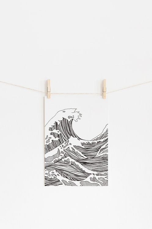 Great Big Wave Art Print