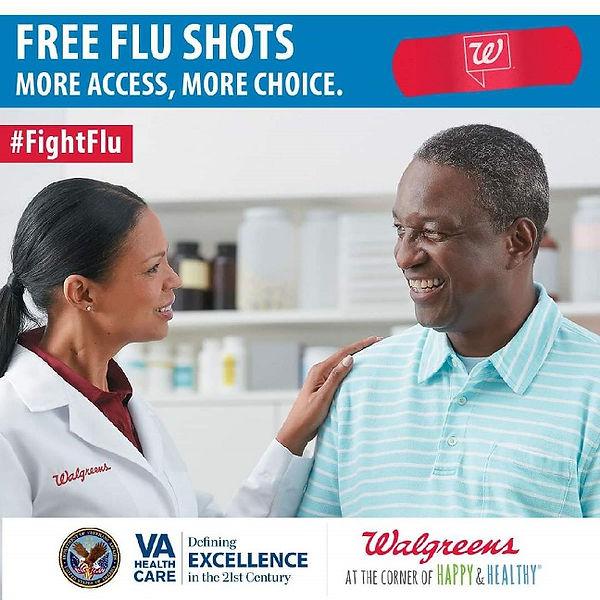 Free Flu Shots - VA partnership with Wal