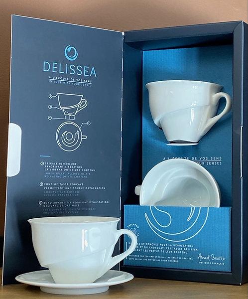 Thé / Chocolat 2 tasses DELISSEA