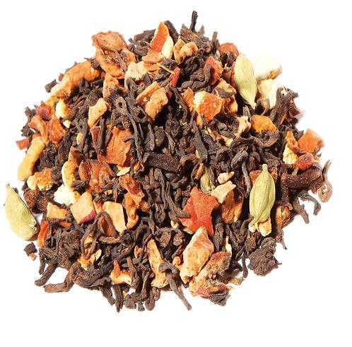 Pu Erh thé de Noël (sachet 100g) - Saveur cannelle - orange