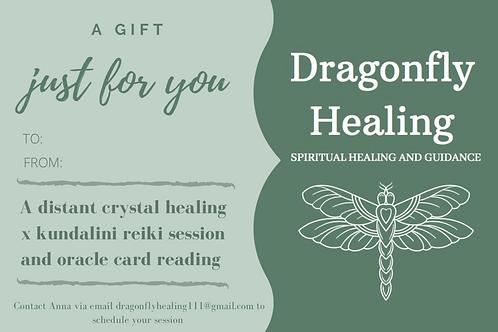 Distant Crystal Healing Reiki & Mini Oracle Reading Voucher