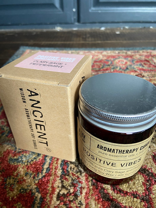 Positive Vibes Candle: Clary Sage & Peppermint