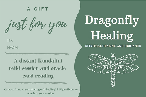 Distant Kundalini Reiki and Mini Oracle Card Reading Voucher
