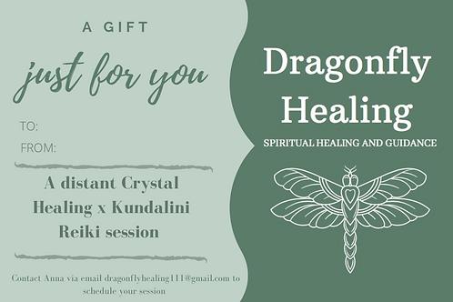 Distant Crystal Healing x Kundalini Reiki Voucher