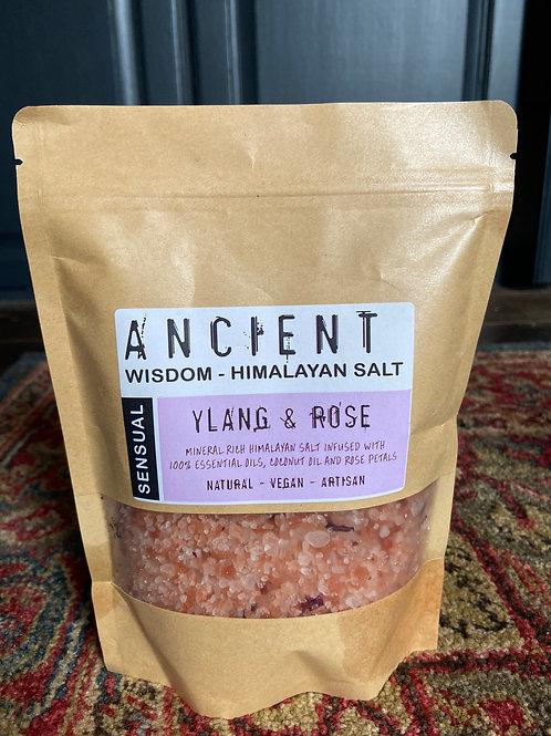 Sensual Ylang and Rose Himalayan Bath Salts