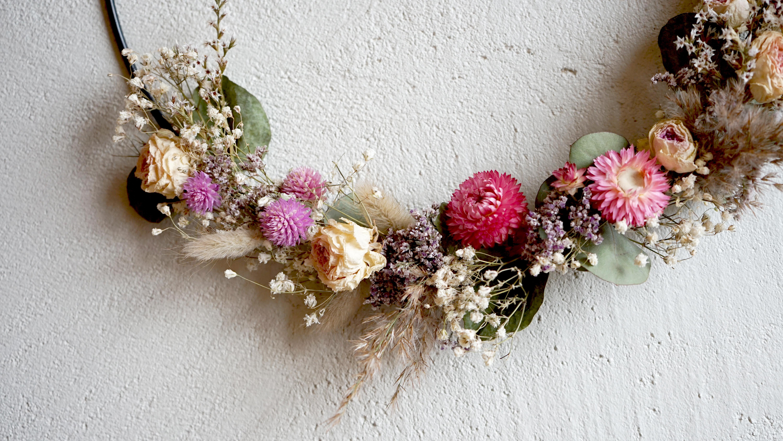 Atelier Couronne de fleurs séchées