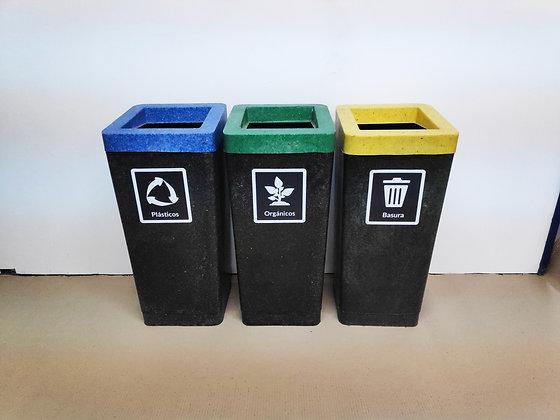 Cesto para clasificar residuos de 75lts