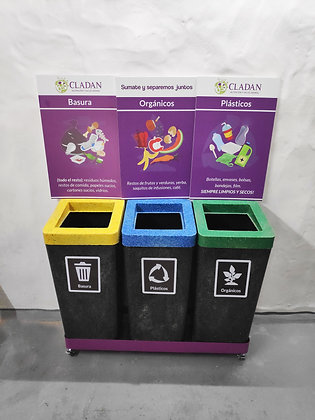 Isla de separación de residuos