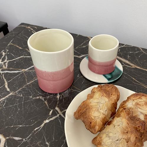 Tasse à café allongé Rose Framboise