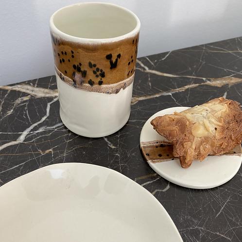 Tasse à café allongé Caramel