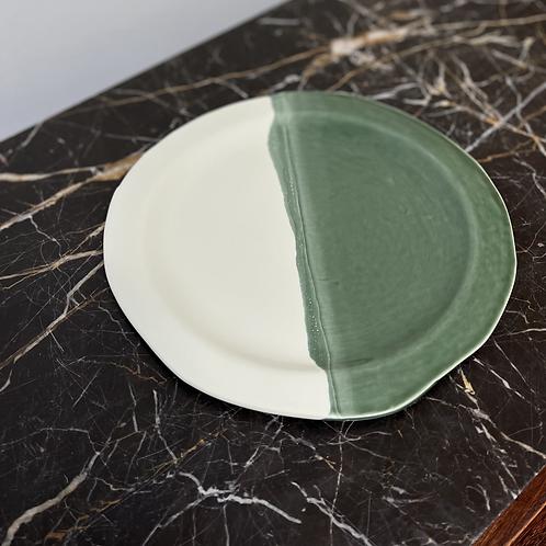 Grande assiette plate Vert Gazon