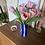 Thumbnail: Vase rayé Bleu Marine