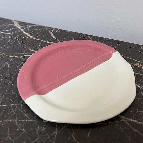Grande assiette plate Rose Framboise