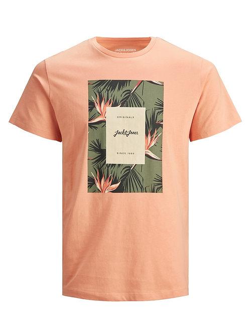 Jack&Jones T-Shirt Jorfloral Shell Coral