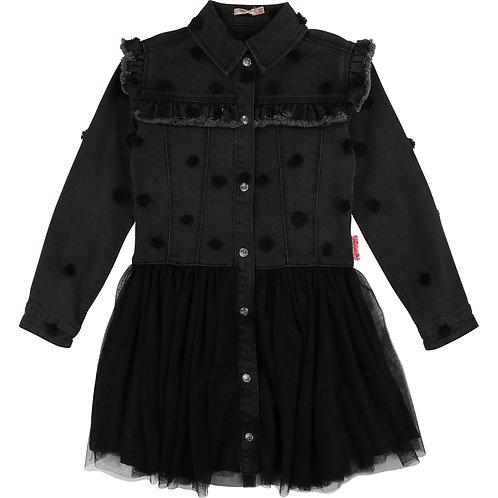 Billieblush Black Denim Dress Dots