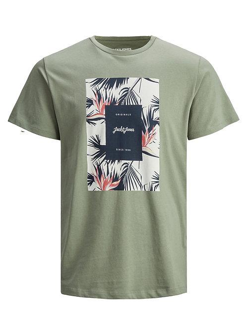 Jack&Jones T-Shirt Jorfloral Sea Spray
