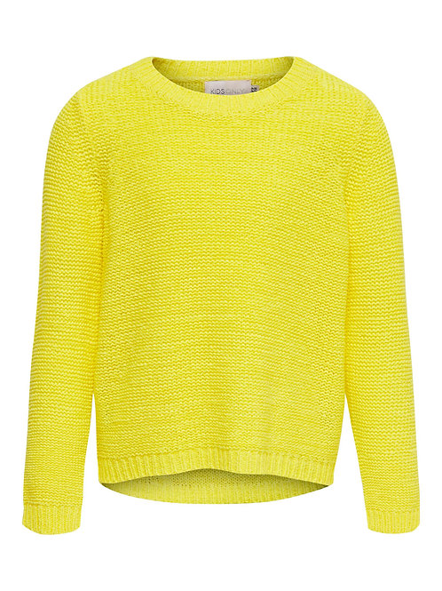 KidsOnly Texture Knitted Pullover Kongeena (3 kleuren : Yellow, Coral & Kaki)