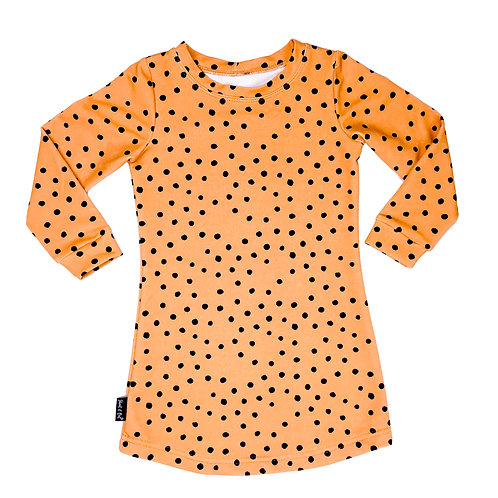 Shout it Out Sweaterdress Ocre Dots