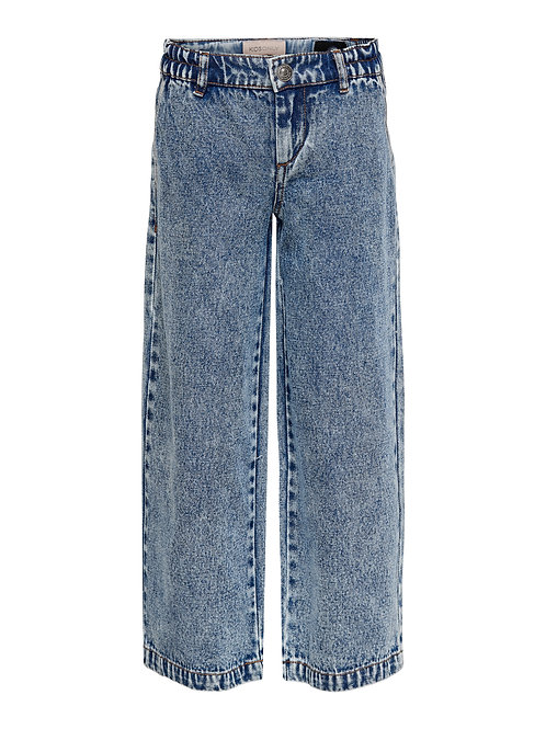 KIDS ONLY Wide Cropped Acid Jeans