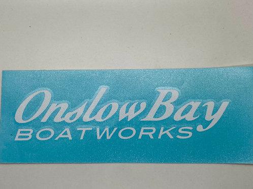 "Onslow Bay 12"" Sticker"