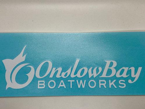 "Onslow Bay Fish Logo 12"" Sticker"