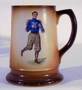 1900-10 University of Yale Football Mug by F. Earl Christy