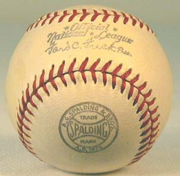 1930's Spalding Official American League Ford Frick Miniature Baseball, NM-MT.