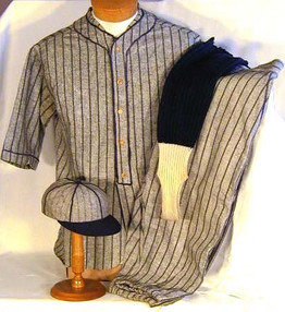 1910's Baseball Uniform Complete with Cap and Socks