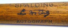 1920-22 Lew McCarty Spalding AUTOGRAPH Bat