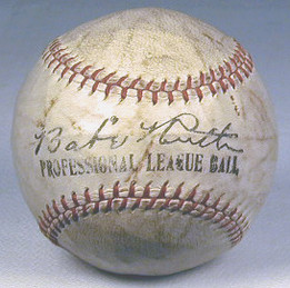 This 1920's Babe Ruth Facsimile Signed Professional League Baseball features great early Babe Ruth endorsement. Vintage Babe Ruth endorsements are scarce and this one is in spectacular EX-MT/NR-MT condition!