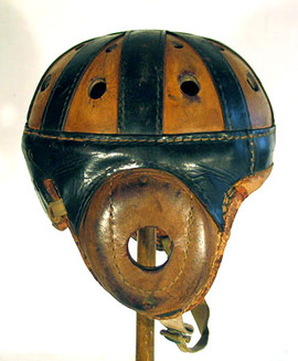1920-30's Spalding Two-Color Leather Football Helmet