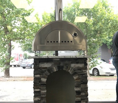 Stacked Stone Gray with Cloudy White Countertop; WPPO Pro 5 Pizza Oven
