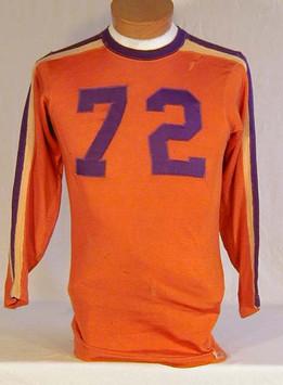 Vintage Football Jersey - 1930's Orange and Purple