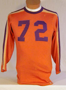 Vintage Football Jersey - 1930's Orange and Purple