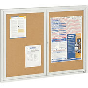 Aarco 2 Door Framed Enclosed Bulletin Board – 48″W x 36″H
