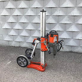 Husqvarna DM340 Drill Motor, DS450 Drill Stand, and DS450 Wheel Kit Assembly included