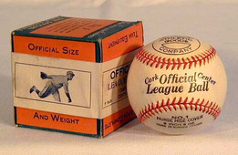 """This is a 1920-30's Waite Hoyt """"Endorsed"""" Baseball, MINT in the Original Box. This is an exceedingly rare baseball having the box which features an unmistakable full body image of Hall of Fame pitcher, Waite Hoyt on the seal. As the above pictures indicate, the images of Hoyt appear to be almost exactly the same. While the baseball itself does not carry a Waite Hoyt facsimile signature, the image on the box is undeniably Hoyt. It is one of the finest and most unique endorsed baseballs we have ever handled. The baseball itself remains in solid MINT condition and the box is EX-MT. Together they make a striking display. Waite Hoyt enjoyed pitching for an incredible 21 years in professional baseball! His glory years were with the New York Yankees where he pitched in seven different World Series Championships!"""