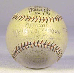 1920's Spalding Official National League Heydler Baseball, ball exhibits very modest use and grades EX-MT.