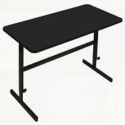 Correll Adjustable Standing Height Workstation – 36″L x 24″W x 34″ to 42″ – Black Granite
