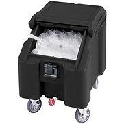 Cambro ICS100L4S110 – Ice Caddies, Black, 100 Lbs. Cap.