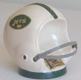 1960's New York Jets Ceramic Helmet Bank