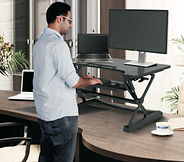M1 Sit-Stand Desktop Workstation – Small