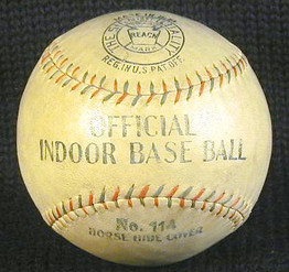 1910's Draper & Maynard Champion Model Baseball. This is an exceptional antique baseball which dates to the prime of the deadball era. Baseballs from this era were often given colorful names like, ROCKET, BOUNDER, CHAMPION, PITCHER'S PRIDE, etc... This particular baseball we have never seen before! The condition is solid EX with strong markings and the always appealing D&M Lucky Dog logo.