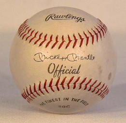 This is an exceptional vintage baseball featuring the facsimile signature of New York Yankee legend, Mickey Mantle. Made by the Rawlings Sporting Goods Company, the early baseball has Mantle's signature located nicely right on the sweet-spot. The condition is EX-MT.