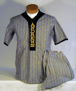 1910's Baseball Uniform made by Draper and Maynard