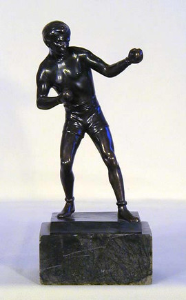 1910's Boxing Figural Trophy-Statue