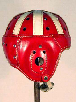 AWESOME 1930-40's MacGregor-GoldSmith Leather Football Helmet