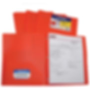 C-Line Products Two-Pocket Heavyweight Poly Portfolio Folder with Prongs, Orange – Pkg Qty 12