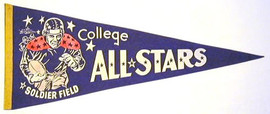 1940's Football College All-Stars Pennant